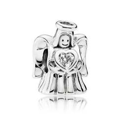 NEW Authentic Pandora Bead Charm Sterling Silver Angel of Love Clear  792010CZ