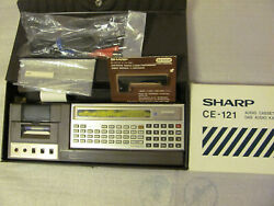 Vintage Japan 80's SHARP PC-1210 w SHARP CE-122 and CE-121 RARE
