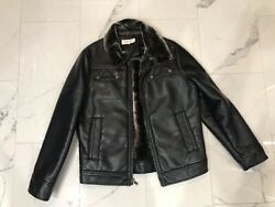 calvin klein fur Coat Mens Leather