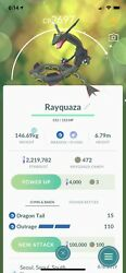Shiny Rayquaza Weather BOOSTED (Level 25) Best Dragon Movese - Pokemon Go Trade!