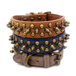 Dog Studded Chihuahua Spiked Leather Puppy Small Collar Rivet for PU Dogs $3.99