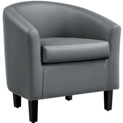 Accent Arm Chair Barrel Tub Chair Contemporary Style For Living Room Bedroom $107.99