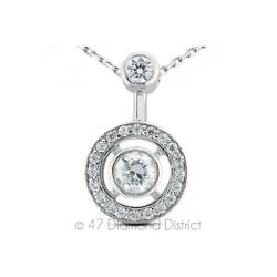 1.69CT Total F VS2 Round Cut Natural Certified Diamonds 18K Gold Halo Pendant
