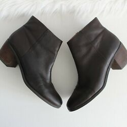 Lucky Brand Dark Brown Leather Ankle Booties Boots Size 10M40