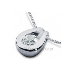 2.55ct G SI1 Round Cut Earth Mined Certified Diamond 950 PLT. Solitaire Pendant