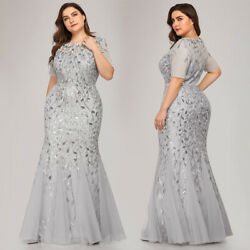 Ever-Pretty Plus Size Sequin Long Prom Dresses Mermaid Formal Party Ball Gown US $40.04