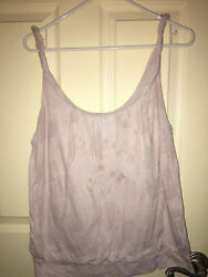 Womens Old Navy Beige with flower imprint Sleeveless Top Size L