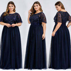 Ever-Pretty Plus Size Long Evening Prom Dresses Formal Cocktail Party Gown US $40.49