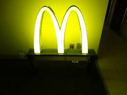 Vintage original McDonald's Arches Pedestal Light-up Double-Sided Sign