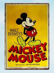 wall designs for living room Micky Mouse metal tin sign $15.79