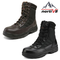 NORTIV 8 Men#x27;s Steel Toe Safety Work Boots Anti Slip Military Tactical Boots US $49.29