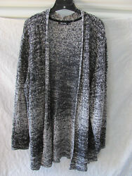 Nic+Zoe Open Front Cardigan Sweater -Black & White -Size 2X- NWT $168