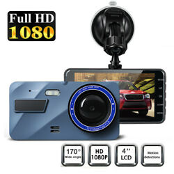 Dash Cam Front and Rear 170°Wide Angle G-sensor Night Vision WDR 1080P Full HD