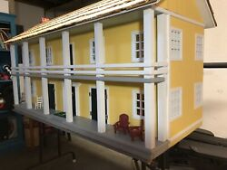 Antique Colonial Revival Dollhouse Fully Restored Completely Furnished $3000.00