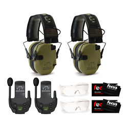 Walker's Razor Electronic Muffs Green Patriot 2 Pack Walkie Talkies amp; Glasses $174.95
