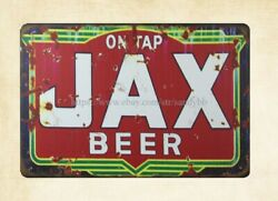 home in the wall ON TAP JAX BEER booze Bar Distiller metal tin sign $16.95