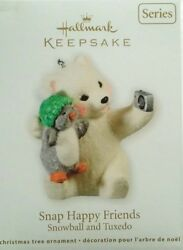 HALLMARK ORNAMENT  2011 ~  SNAP HAPPY FRIENDS SNOWBALL AND TUXEDO  11TH