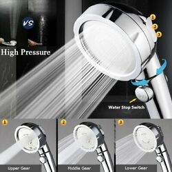 3 In 1 High Pressure Showerhead Handheld Shower Head Hand Held with ONOff Pause