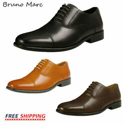 Bruno Marc Mens Leather Dress Shoes Formal Classic Lace-up Business Oxford Shoes $25.49