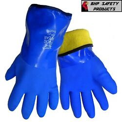 Insulated Waterproof Gloves Flexible PVC Cold Weather Work FrogWear 8490 1 Pair $12.50