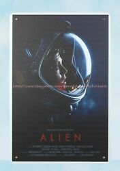 accent wall bedroom movie poster Alien metal tin sign $15.85