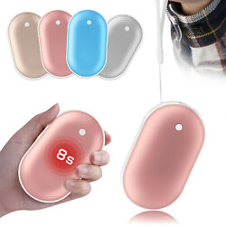 Pocket Rechargeable Hand Warmer Electric Heater Portable Power Bank USB Charger
