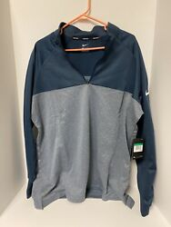 Nike Golf Half Zip Pullover Therma Fit Mens Size Xl Blue Gray $59.99