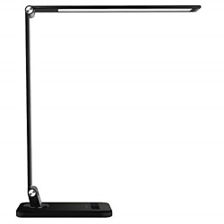 LED Desk Lamp Dimmable 5 Color Modes 8 Brightness Levels Touch Control 12W Black