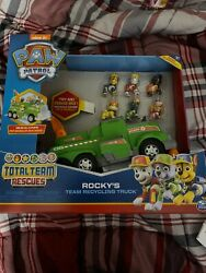 PAW Patrol Rocky 'Total Team Rescue Police Cruiser Vehicle with 6 Pups! Kids 3+