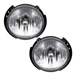 Pair Headlights fit 07-17 Jeep Wrangler 18 Wrangler JK Halogen Lens Headlamp Set $79.88
