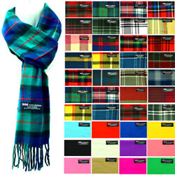 Womens Mens Winter 100% Cashmere Plaid check Scarves Wool Scarf Scotland Made $5.99