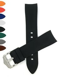 Bandini Curved End Silicone Watch Band Rubber Strap Many Colors 18mm 20mm 22mm $16.96