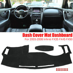 Dash Cover Dashmat Dashboard Mat Pad Anti Sun For 03 08 Infiniti FX35 FX45 FX50 $16.79