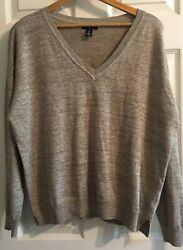 Awesome Party Long Sleeve Sweater Women's Size L By GAP Brown Sparkly $12.00