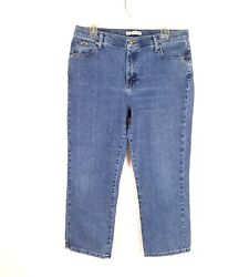 Lee Womens At The Waist Classic Fit Stretch Boot Cut Denim Jeans Size 14 Short $17.99