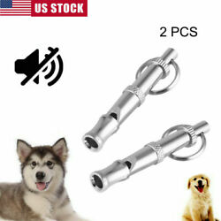 2PCS Dog Training Whistle Puppy Supplies Adjustable Pitch Silver $5.68
