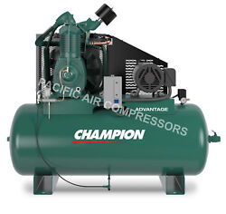 CHAMPION AIR COMPRESSOR HRA15-12 FULLY PACKAGED 15 HP 3 PHASE 230V BRA15312H $6,765.00