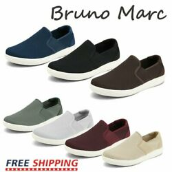 Bruno Marc Men#x27;s Mesh Breathable Sneakers Slip On Loafer Shoes Walking Shoes $25.75