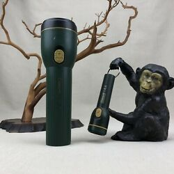 2 Coleman Flashlight Vintage 2 D cell and AA cell keychain $19.99