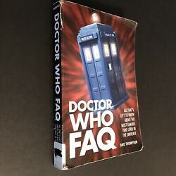 Doctor Who FAQ by Dave Thompson (2013 Applause Paperback) 338 Pages Ex-Library $5.00