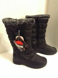 Totes Womens Boots Size 6 Black Waterproof Side Zipper Retails $89.99 $52.00