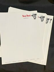 Original 1960#x27;s Dizzy Dean Restaurant Stationary You Pick The # of Sheets $1.00