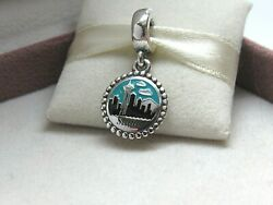 New w Box Pandora Seattle Skyline Space Needle Enamel Charm RARE Sky Color Dif $94.99