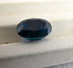 NATURAL UNHEAT BLUE SAPPHIRE OVAL 6.91 CARATS CUT GEMSTONE FOR RING PENDANT