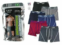 Lot 3-6 Pack Mens Performance ClimaLite Boxer Briefs Underwear Flex Waistband $8.95