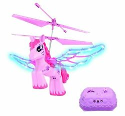 Haktoys RC Magical Pink Unicorn Helicopter for Girls w Lights amp; Music Gyroscope $41.97