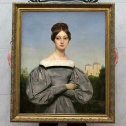 Hand painted Old Master Art Antique Oil Painting Portrait Noblewoman on canvas $499.00