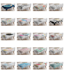 Ambesonne Modern Text Tablecloth Table Cover for Dining Room Kitchen $30.99