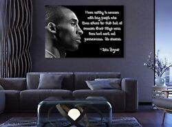 Kobe Bryant Quote Black and White Sport Paints Canvas Print Art Decor Wall $36.67