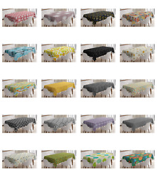 Ambesonne Abstract Layout Tablecloth Table Cover for Dining Room Kitchen $30.99